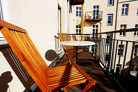 Hotel Berlin Apartment Balkon