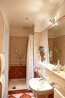 Hotel Berlin Doppel-Zimmer Dusche Bad