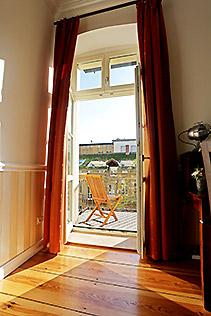 Hotel Berlin Studio Zimmer Balkon